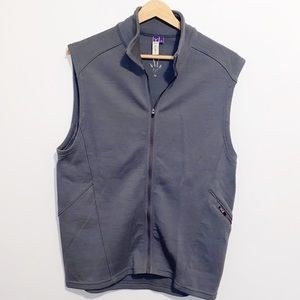 IBEX 100% Merino Gray Wool Zip up Vest Medium